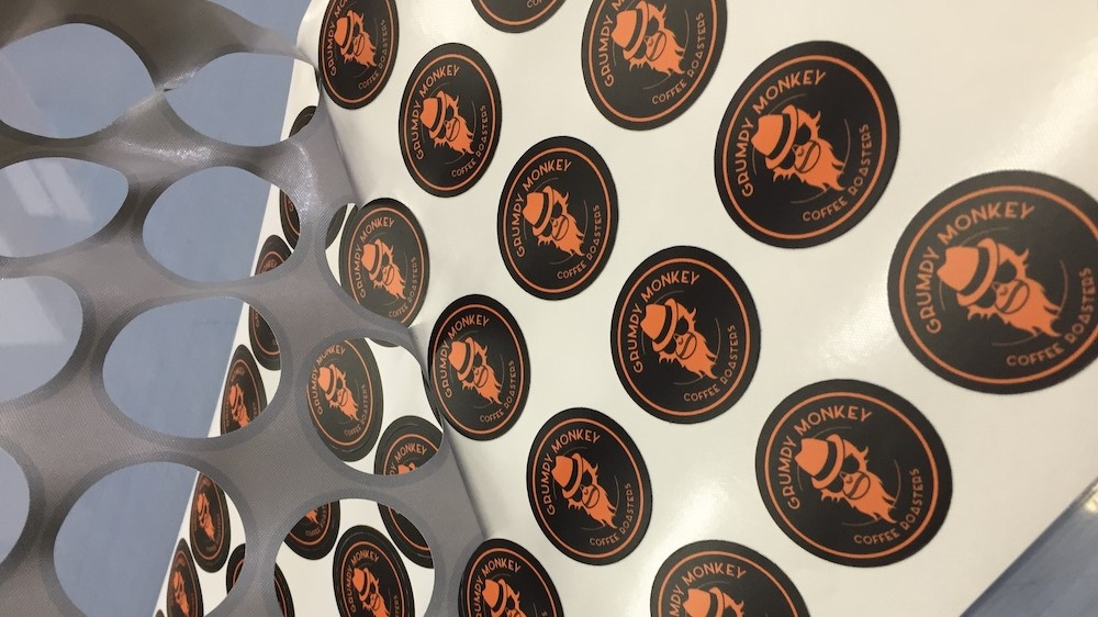 Indoor Sign 1 Coffee Cup Stickers Headline Image