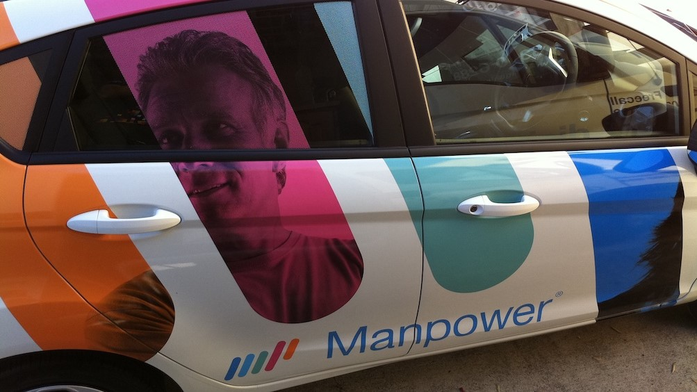 Outdoor Sign 2 Manpower Car Wrap